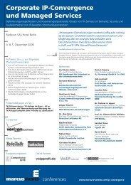 Corporate IP-Convergence und Managed Services