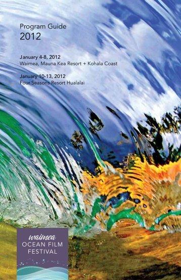 2012 Waimea Ocean Film Festival Program