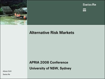 Alternative Risk Markets