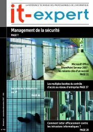 Management de la sécurité - IT-expert Magazine