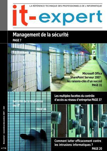 Management de la sécurité - IT-expert Magazine