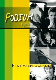 FestivalPrOgramm - Podium Festival