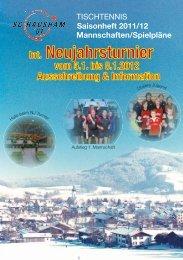 TISCHTENNIS Saisonheft 2011/12 Mannschaften ... - SG Hausham
