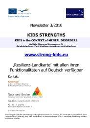 3. Newsletter zum EU-Projekt 2011 - Netz und Boden
