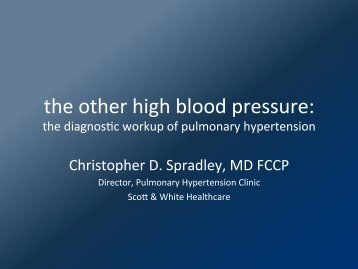 Pulmonary Hypertension Workup - Healthcare Professionals - Sw.org