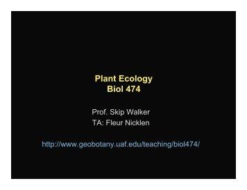 Plant Ecology Biol 474