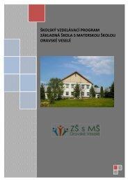 Školský vzdelávací program ZŠ s MŠ Oravské Veselé