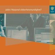 Jobb i Nasjonal sikkerhetsmyndighet? - NSM