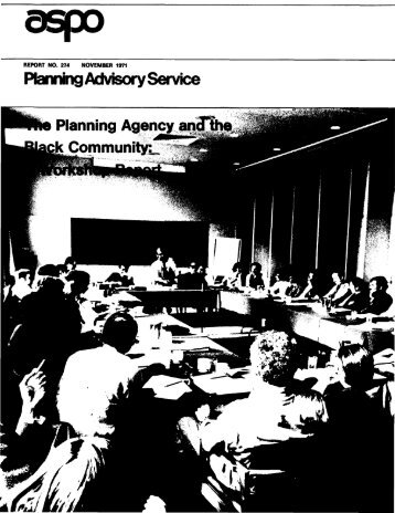 Planning Advisory Service Planning Agency andThe Community