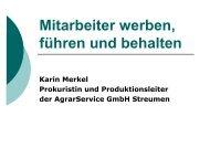 Vortrag Merkel - Mitarbeiter werben, führen und behalten - DLR Eifel