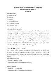 Sitzung der Sektion Pneumologie der DGAKI am 8.9.2010 im ...