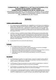 STATUTO - Bildung Detailhandel Schweiz (BDS)