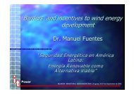 Barriers and incentives to wind energy development - unido