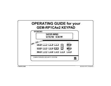 Napco Gemini LCD Keypad - Microtec
