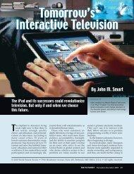 Tomorrow's Interactive Television - World Future Society