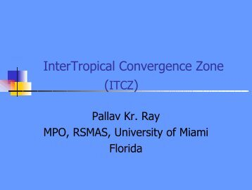 ITCZ - rsmas-mpo - University of Miami