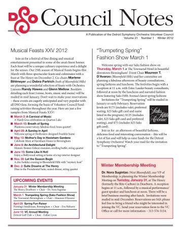 Musical Feasts XXV 2012 - Detroit Symphony Orchestra