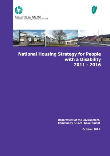National Housing Strategy for People with a Disability 2011 - 2016