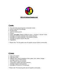 2013-14 School Supply List - SAR Academy