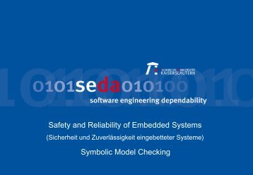 Symbolic Model Checking Excursus: OBDDs - Software Engineering ...
