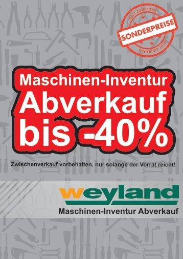 Maschinenabverkaufsl..