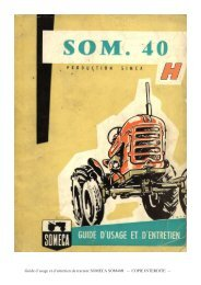 Guide d'usage et d'entretien du tracteur SOMECA SOM40H ...
