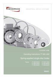Spring-applied single-disc brake - Kendrion