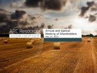 Annual and Special Meeting of Shareholders - ARC Resources Ltd.