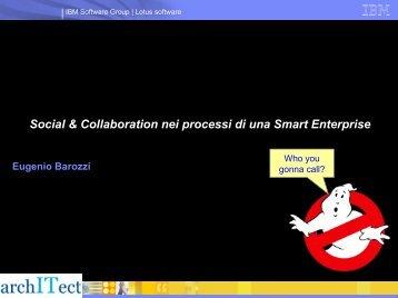 Social & Collaboration nei processi di una Smart ... - Guide Share Italia