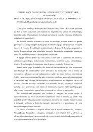 POSSIBILIDADE EM ONCOLOGIA: ATENDIMENTO ... - Sispnh.com.br