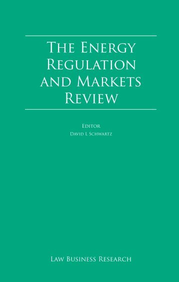 The Energy Regulation and Markets Review - Minter Ellison