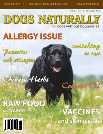 allergy issue - Dogs Naturally Magazine