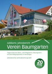 Jahresbericht 2009 - Wohnheim Baumgarten