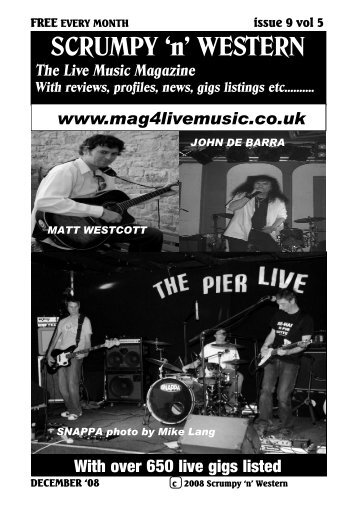 SCRUMPY 'n' WESTERN - Mag 4 Live Music
