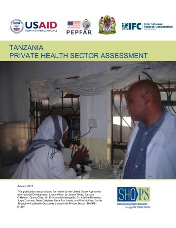 tanzania private health sector assessment - SHOPS project
