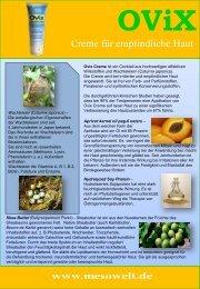 OViX Creme für empfindliche Haut - Mesowelt