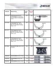 25 % 00110103 TESA Bügelmesschraube, ISOMASTER 50 - Metzler