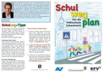 Schulwegplan - Schwarzach