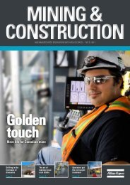 New life for Canadian mine - Atlas Copco