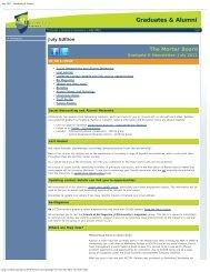 July 2011 - Graduates & Alumni - Central Queensland University