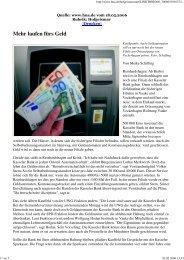 Mehr laufen fürs Geld - UWG Reinhardshagen