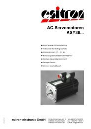 AC-Servomotoren KSY36... - esitron