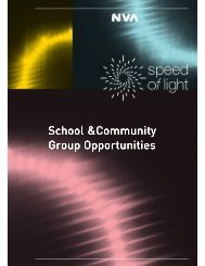 School and Community Group Booklet - Speed of Light