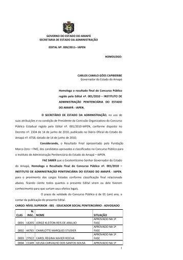 1 governo do estado do amapá secretaria de estado da ...