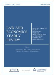LAW AND ECONOMICS YEARLY REVIEW