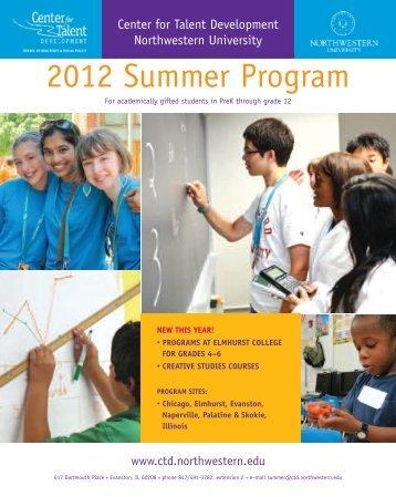 2012 Summer Program - Center for Talent Development ...