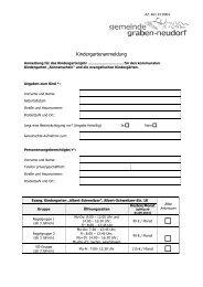 Kindergartenanmeldung - Gemeinde Graben-Neudorf