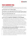 FLEX SANDERS - Wurth USA - Page 6