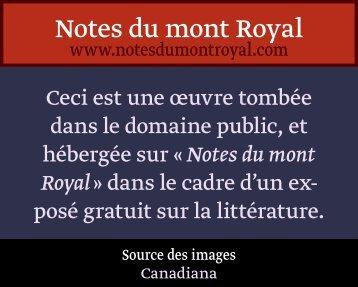 Iv - Notes du mont Royal