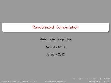 Randomized Computation - Corelab